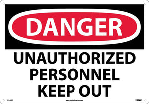 Large Format Danger Unauthorized Personnel Keep Out Sign