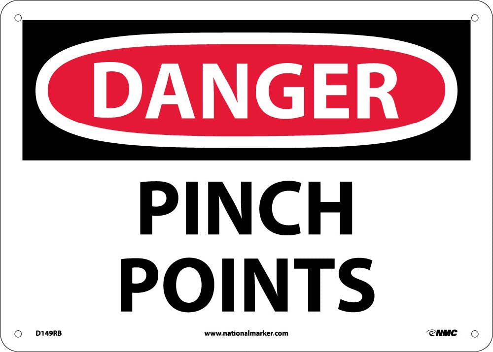Danger Pinch Points Sign