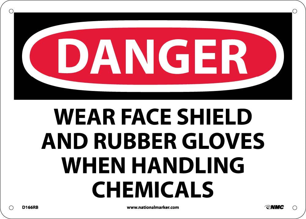 Danger Wear Ppe When Handling Chemicals Sign