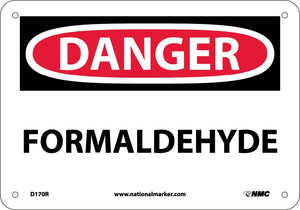 Formaldehyde Sign