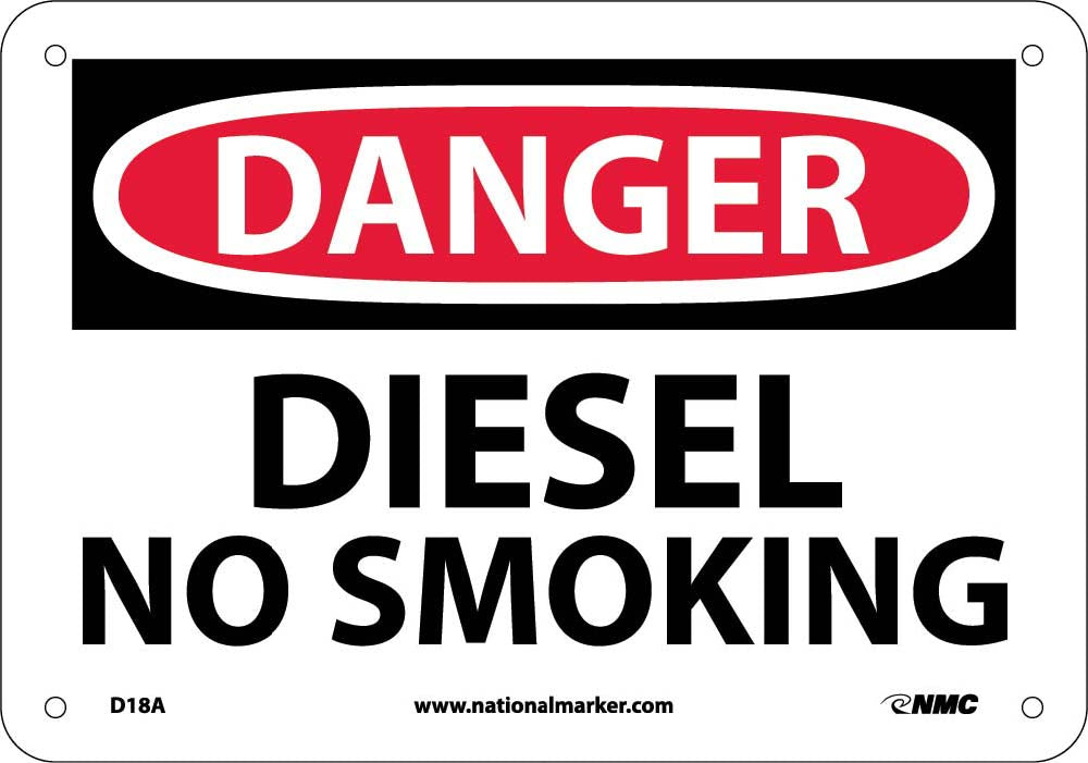Danger Diesel No Smoking Sign