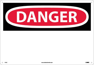 Large Format Danger Sign