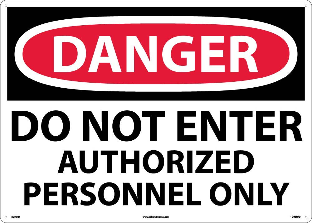 Large Format Do Not Enter Authorized Personnel Only Sign