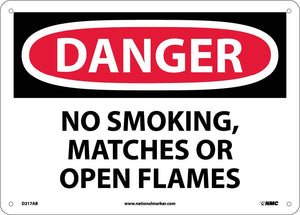 Danger No Smoking Matches Or Open Flames Sign