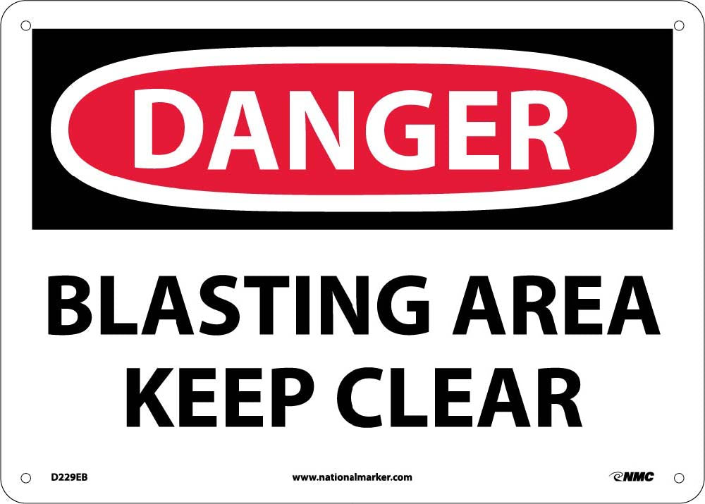 Danger Blasting Area Keep Clear Sign