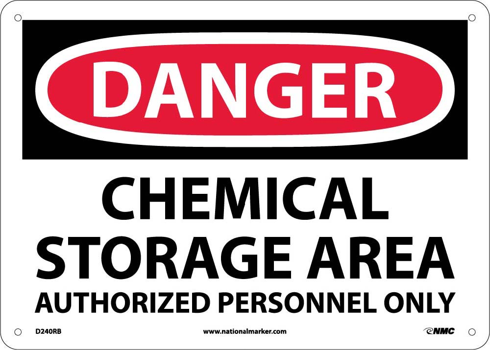 Danger Chemical Storage Area Sign