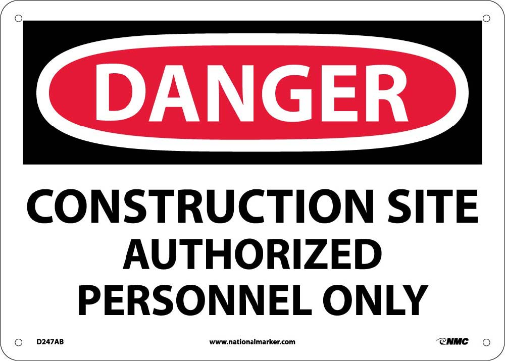Danger Construction Site Sign