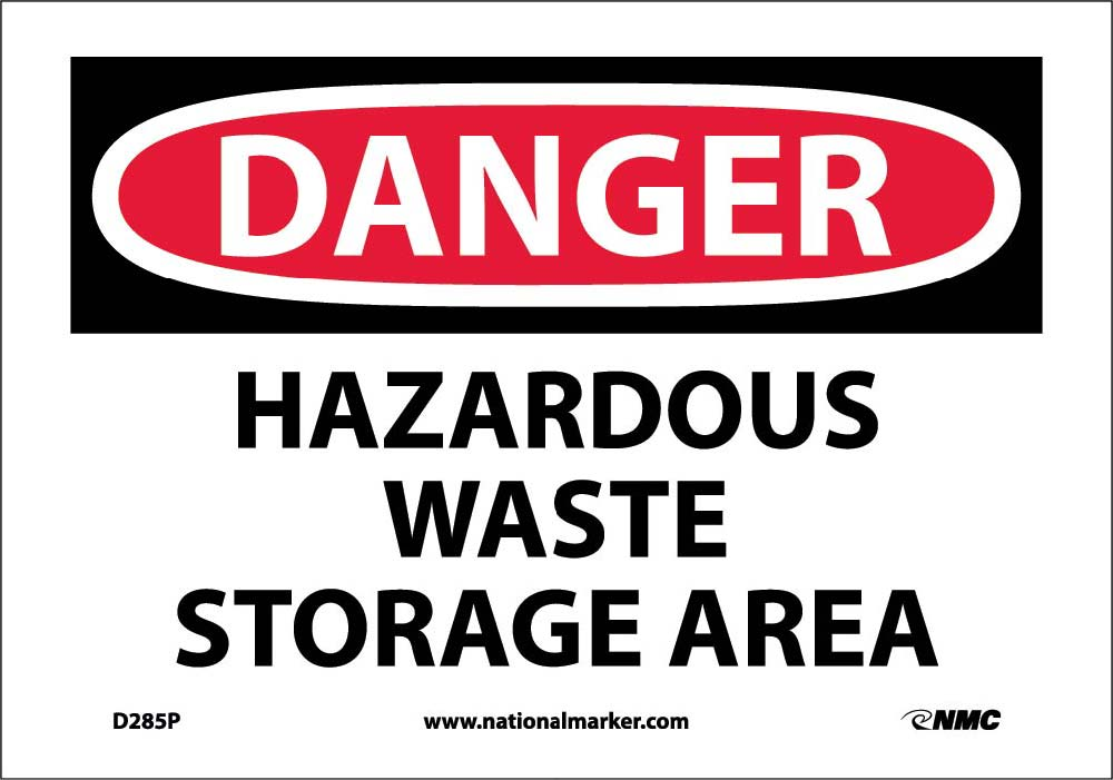 Danger Hazardous Waste Storage Area Sign Esafety