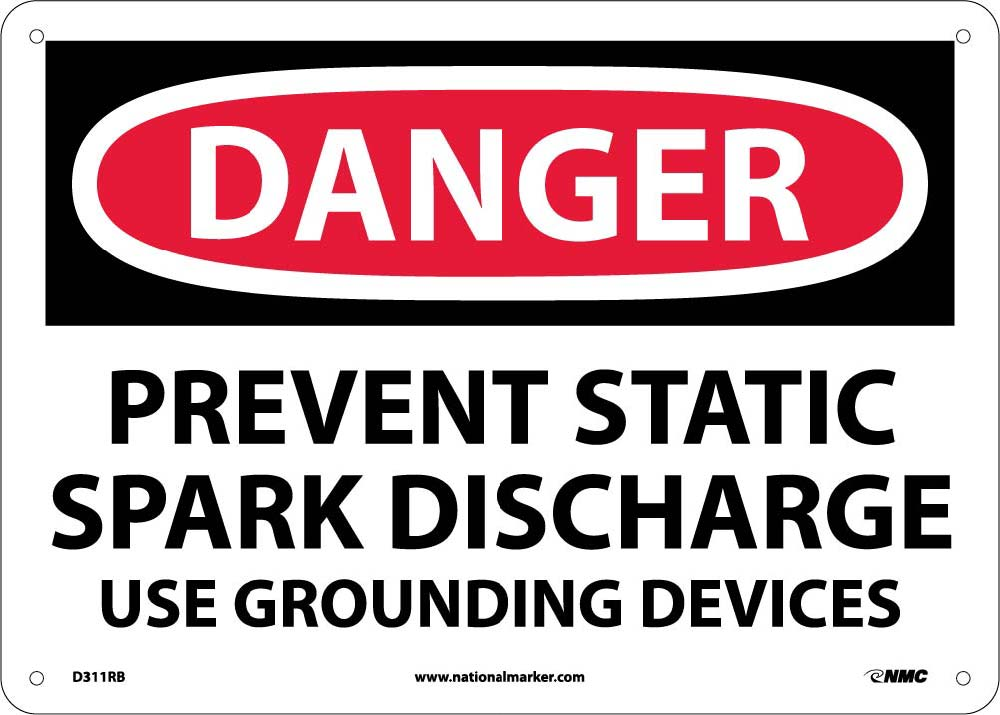 Prevent Static Spark Discharge Use Groun Sign