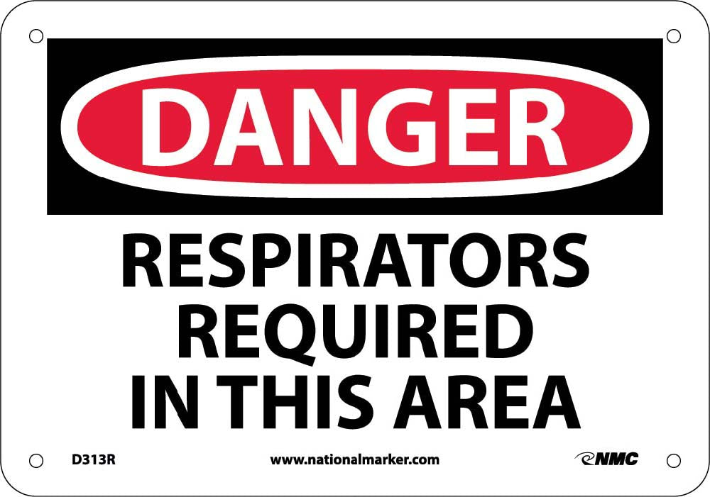 Danger Respirators Required In This Area Sign