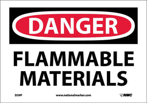 Danger Flammable Materials Sign