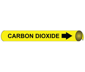 Carbon Dioxide Precoiled/Strap-On Pipe Marker