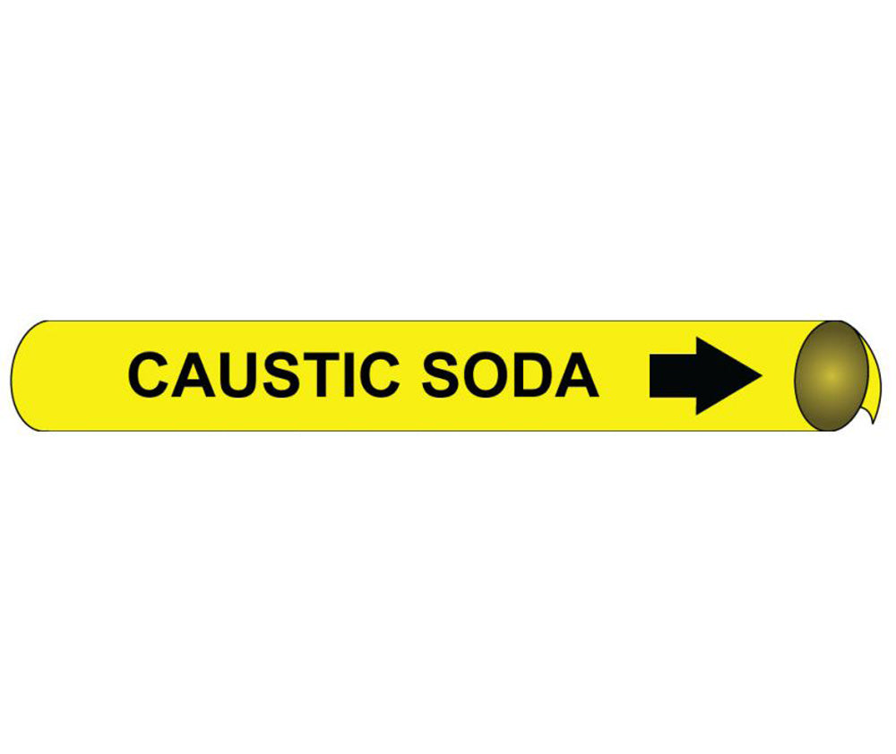 Caustic Soda Precoiled/Strap-On Pipe Marker