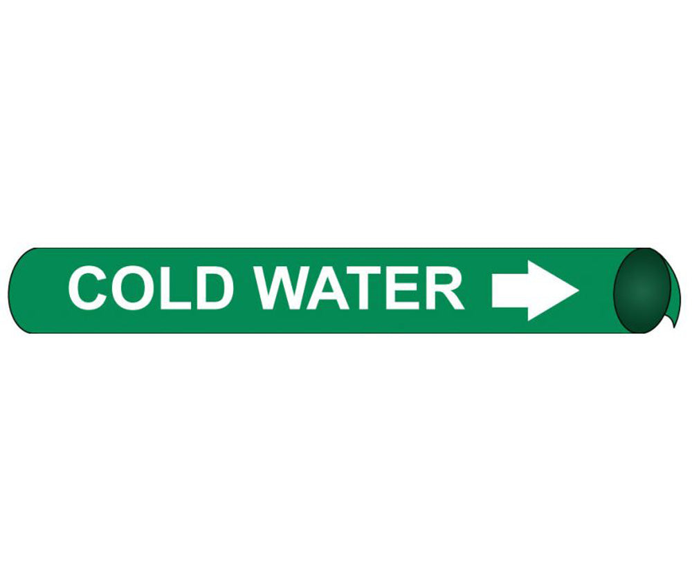 Cold Water  Precoiled/Strap-On Pipe Marker