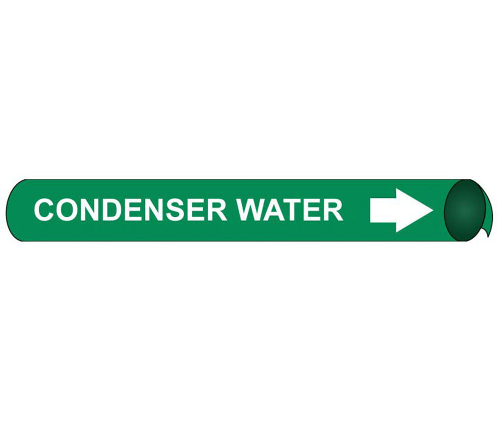 Condenser Water Precoiled/Strap-On Pipe Marker