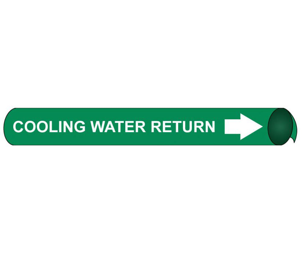 Cooling Water Return Precoiled/Strap-On Pipe Marker