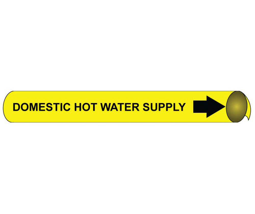 Domestic Hot Water Return Precoiled/Strap-On Pipe Marker