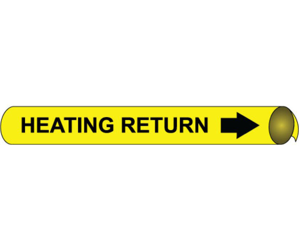 Heating Hot Water Return Precoiled/Strap-On Pipe Marker