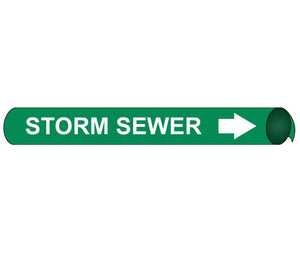 Storm Sewer Precoiled/Strap-On Pipe Marker