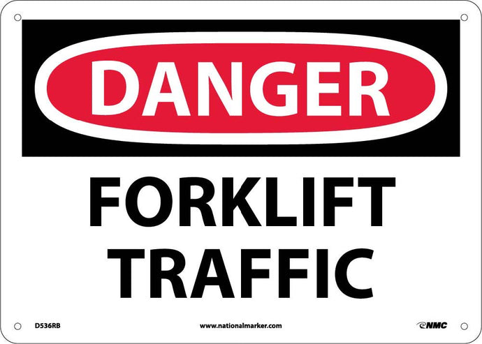Danger Forklift Traffic Sign