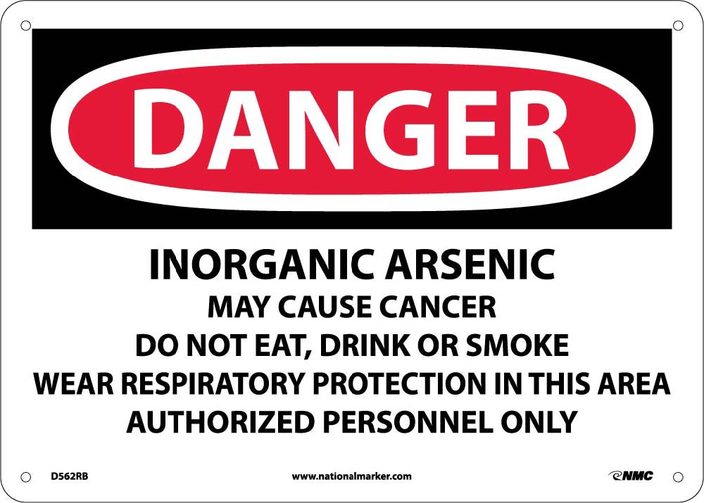 Inorganic Arsenic Cancer Ha Sign Esafety Supplies Inc