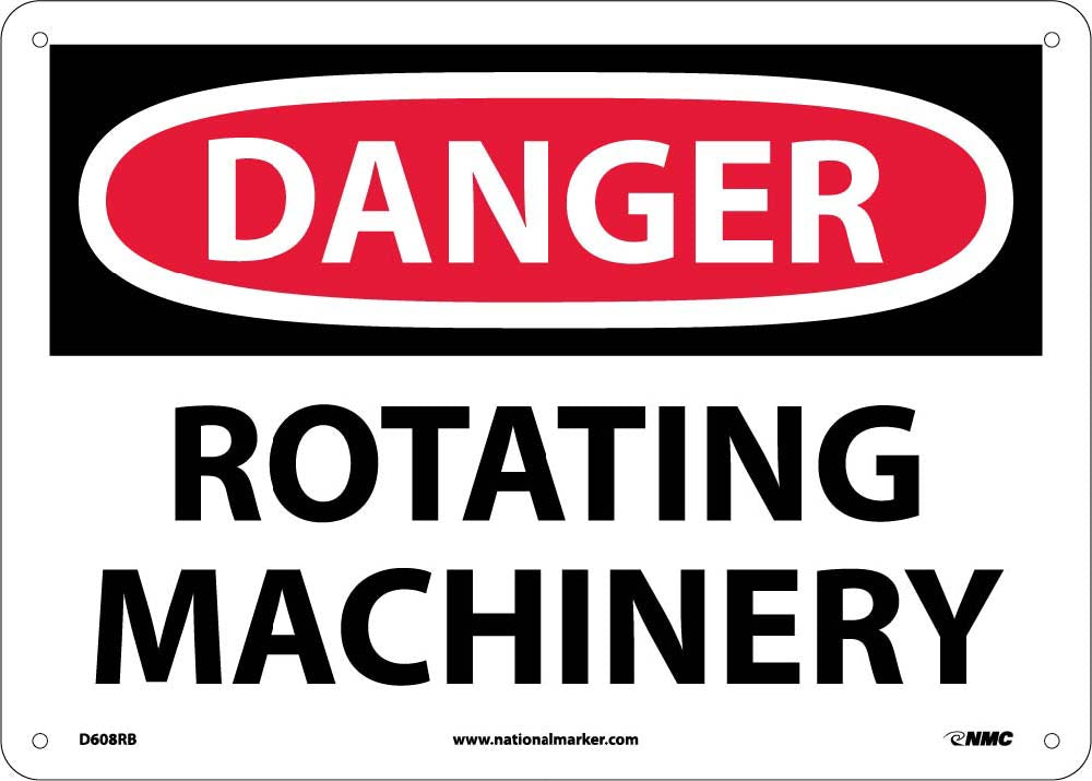 Danger Rotating Machinery Sign Esafety Supplies Inc