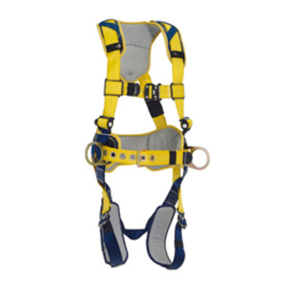 3M DBI-SALA X-Large Delta Construction Style Positioning Harness With Back And Side D-Rings, Belt With Pad, Quick Connect Buckle Leg And Chest Straps And Comfort Padding