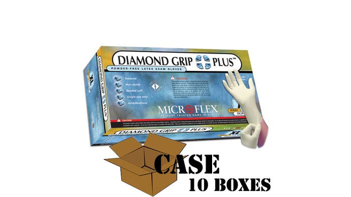 Microflex - Diamond Grip Plus - Latex Gloves - Case