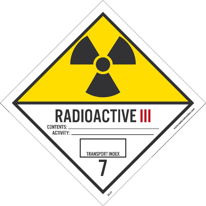 Radioactive Iii Label - Pack of 25