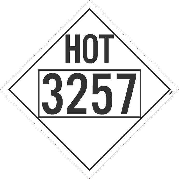 Hot 3257 Misc Dot Placard Sign