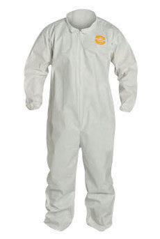 DuPont 4X White Safespec 2.0 10 mil ProShield NexGen Disposable Coveralls With Front Zipper Closure, Laydown Collar And Set Sleeves