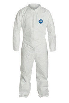 DuPont 5X White Safespec 2.0 5.4 mil Tyvek Disposable Coveralls With Front Zipper Closure, Collar, Elastic Waist And Set Sleeves