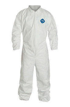 DuPont 3X White Safespec 2.0 5.4 mil Tyvek Disposable Coveralls With Front Zipper Closure, Collar, Elastic Waist, Set Sleeves, Elastic Ankles And Elastic Wrists