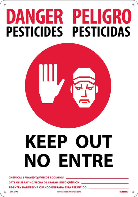 Danger Pesticides Keep Out - Bilingual Sign