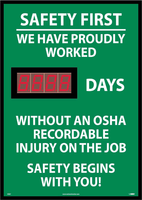 Safety First We Have Proudly Worked Digital Scoreboard