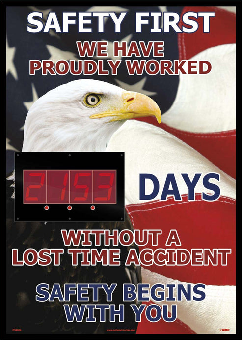Safety First America Themed Insight Digital Scoreboard