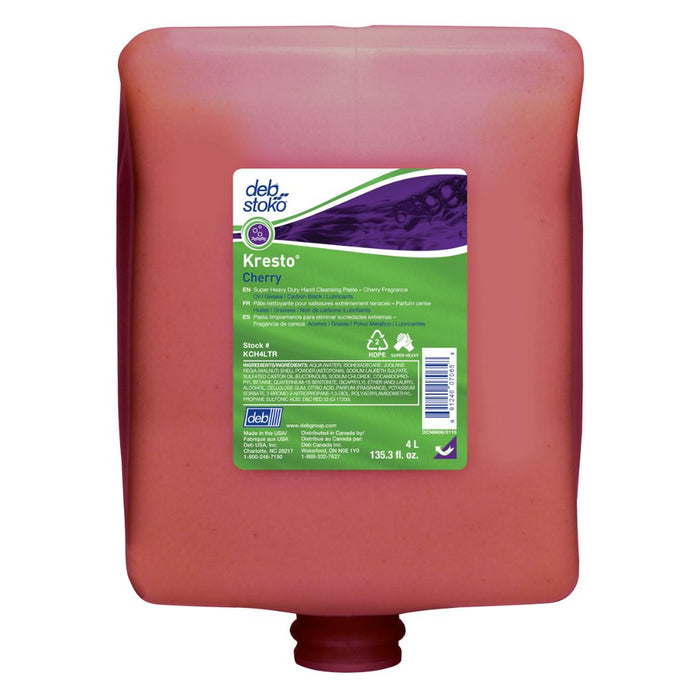 Deb 4 Liter Refill Red Kresto Scented Hand Cleaner (4 Hand Cleaners - Pack)