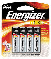 Energizer Eveready MAX 1.5 Volt AA Alkaline Battery With Flat Contact Terminal