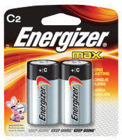 Energizer Eveready MAX 1.5 Volt C Alkaline Battery With Flat Contact Terminal