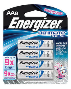 Energizer Ultimate e2 1.5 Volt AA Cylindrical Lithium Battery