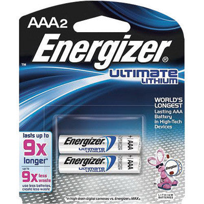 Energizer Ultimate e2 1.5 Volt AAA Cylindrical Lithium Battery