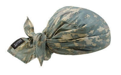 Ergodyne Camouflage Chill-Its 6710CT PVA Evaporative Cooling Hat With Tie Closure
