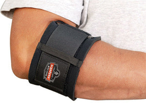Ergodyne Large Black ProFlex 500 Nylon Laminated Neoprene Ambidextrous Elbow Support With Hook And Loop Closure