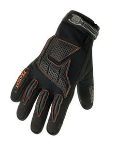 Ergodyne X-Large Black ProFlex 9015F Full Finger Pigskin Anti-Vibration Gloves With Woven Elastic Cuff, Polymer Palm Pad, Pigskin Leather Palm And Fingers And Low Profile Closure