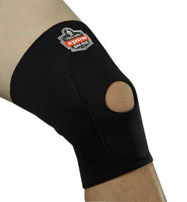 Ergodyne Medium Black ProFlex 615 Neoprene Ambidextrous Single Layer Knee Sleeve With Anterior Pad And Open Patella
