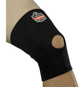 Ergodyne X-Large Black ProFlex 615 Neoprene Ambidextrous Single Layer Knee Sleeve With Hook And Loop Closure, Anterior Pad And Open Patella