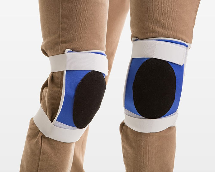Impacto Black Suede Leather Kneepads