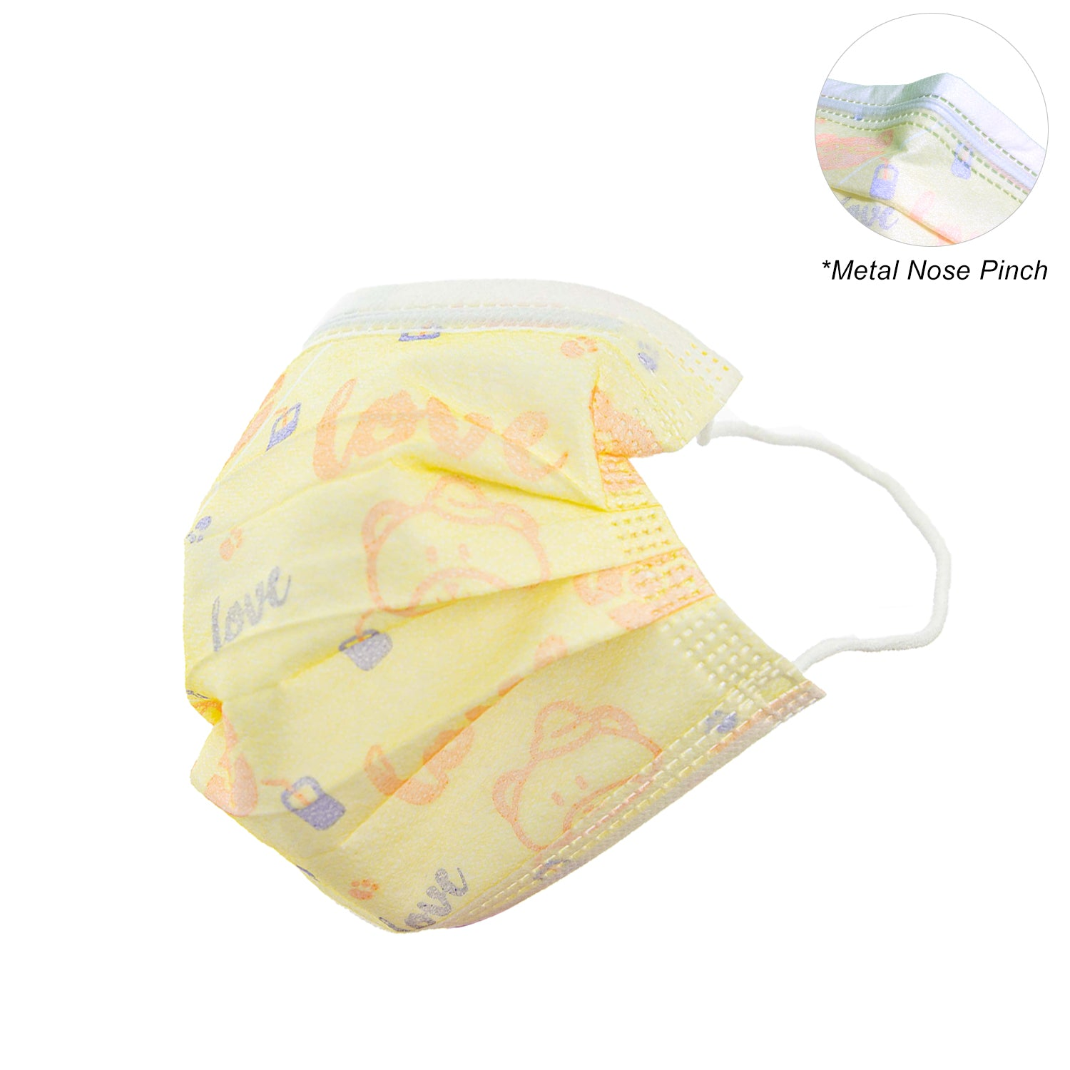 KXCDTECH 50PCS Kids Disposable Breathable 3-Ply,