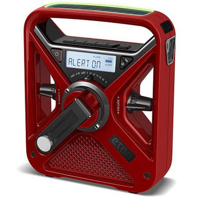 Eton - FRX3+ Hand Turbine Radio and portable phone charger - Red