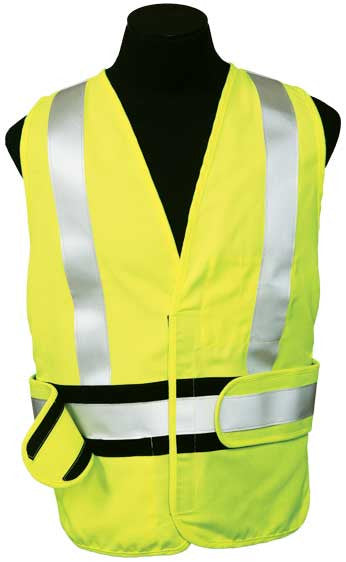 ML Kishigo - ARC Series 2 Class 2 Safety Vest size Medium - X-large material: Modacrylic, color Lime